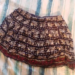 Boho Elephant Skirt